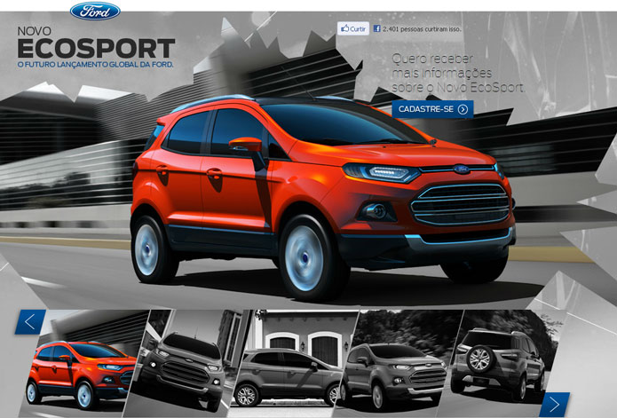 novo ford ecosport site brasil