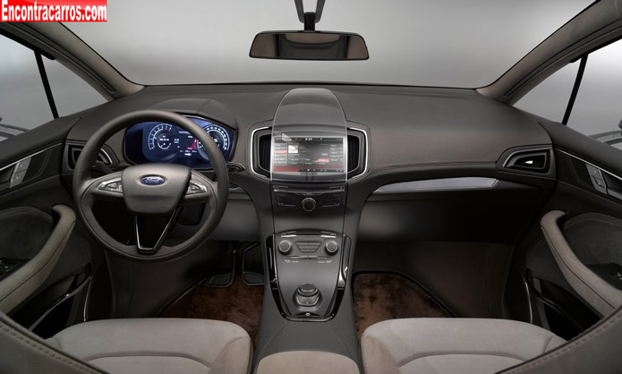 ford s max 2014 concept interior painel