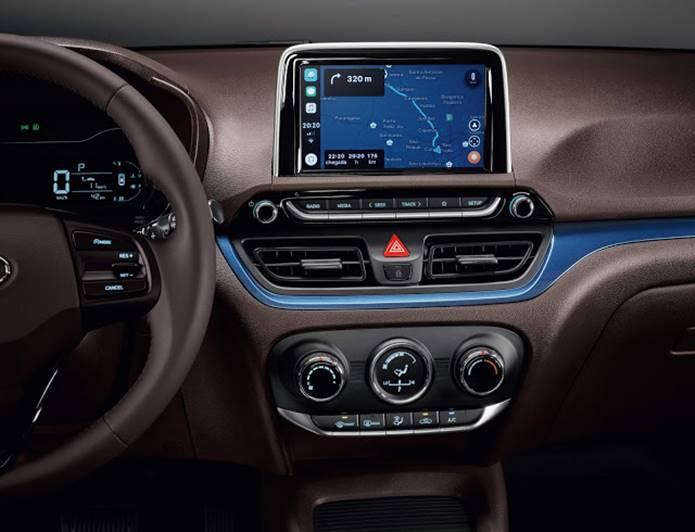 novo hyundai hb20 interior sistema multi-midia e console central