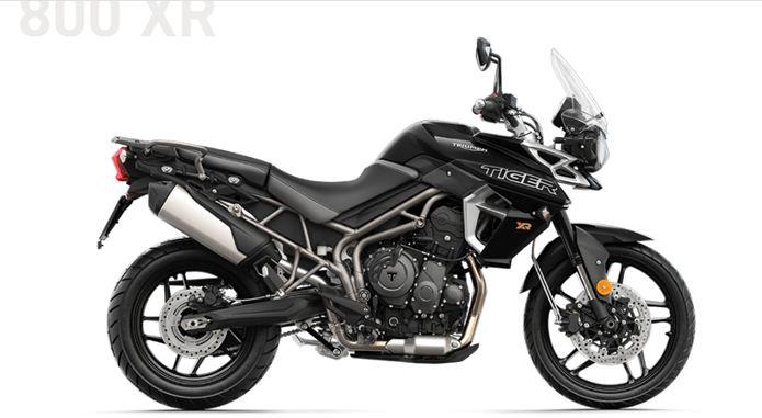 triumph tiger 800 xr 2018 preta