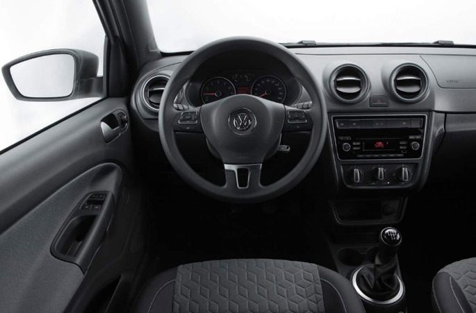 vw gol track interior painel